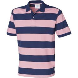 Textiel Heren Polo's korte mouwen Front Row Pique Marine / Roze