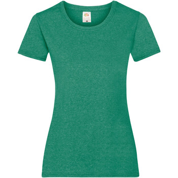 Textiel Dames T-shirts korte mouwen Fruit Of The Loom 61372 Retro Heather Groen