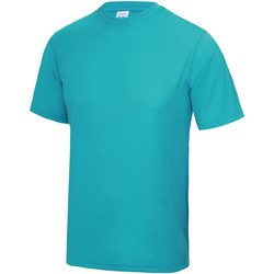 Textiel Heren T-shirts korte mouwen Just Cool Performance Hawaiiaans Blauw