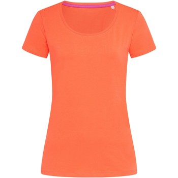 Textiel Dames T-shirts korte mouwen Stedman Stars  Zalmroze