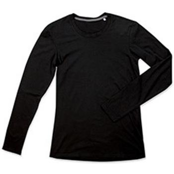Textiel Heren T-shirts met lange mouwen Stedman Stars Clive Zwart