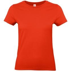 Textiel Dames T-shirts korte mouwen B And C E190 Vuurrood