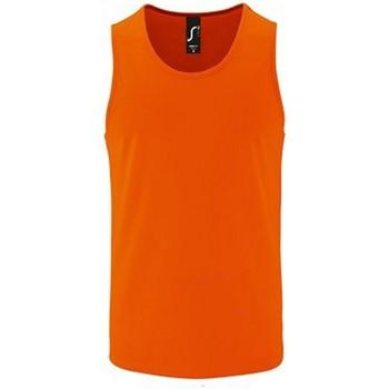Textiel Heren Mouwloze tops Sols Performance Neon Oranje