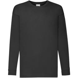 Textiel Kinderen T-shirts met lange mouwen Fruit Of The Loom 61007 Zwart