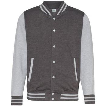 Textiel Wind jackets Awdis Varsity Houtskool / Heide Grijs