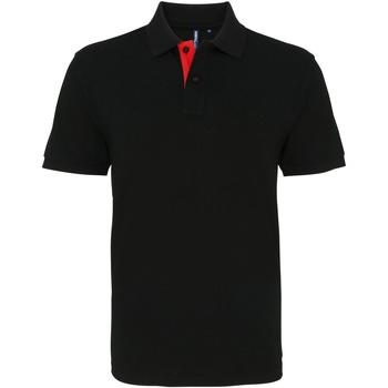 Textiel Heren Polo's korte mouwen Asquith & Fox AQ012 Zwart / Rood