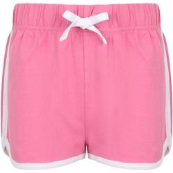 Textiel Kinderen Korte broeken / Bermuda's Skinni Fit Retro Helder Roze/Wit