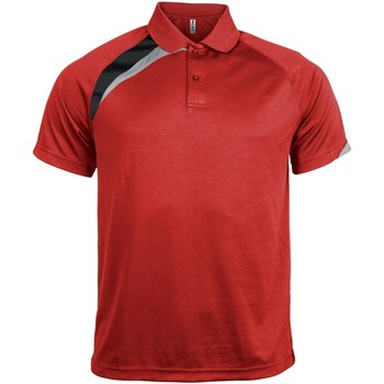 Textiel Heren Polo's korte mouwen Kariban Proact Proact Rood/ Zwart/ Stormgrijs