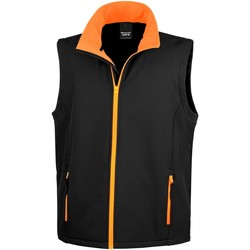 Textiel Heren Vesten / Cardigans Result Softshell Zwart / Oranje