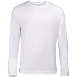 Textiel Heren T-shirts met lange mouwen Just Cool Performance Arctisch Wit