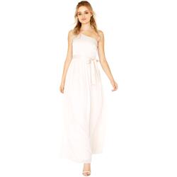 Textiel Dames Lange jurken Little Mistress Satin Naakt