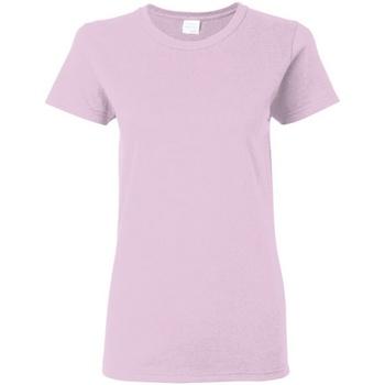 Textiel Dames T-shirts korte mouwen Gildan Missy Fit Licht Rose