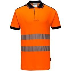 Textiel Heren Polo's korte mouwen Portwest PW368 Oranje/zwart