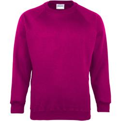 Textiel Kinderen Sweaters / Sweatshirts Maddins Coloursure Framboos
