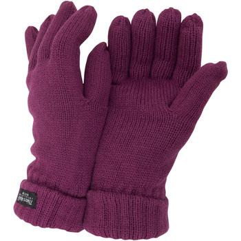 Accessoires Dames Handschoenen Floso Knitted Framboos