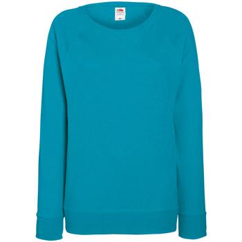 Textiel Dames Sweaters / Sweatshirts Fruit Of The Loom Raglan Azure Blauw