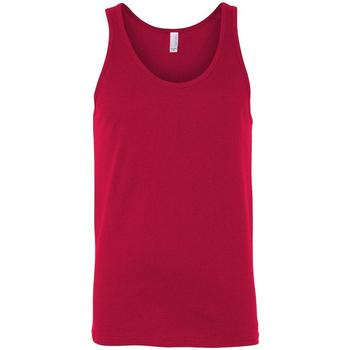 Textiel Dames Mouwloze tops Bella + Canvas Jersey Rood