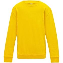 Textiel Kinderen Sweaters / Sweatshirts Awdis JH30J Zonnegeel