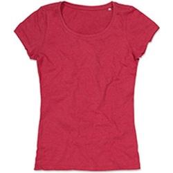 Textiel Dames T-shirts korte mouwen Stedman Stars Lisa Kersen Heide