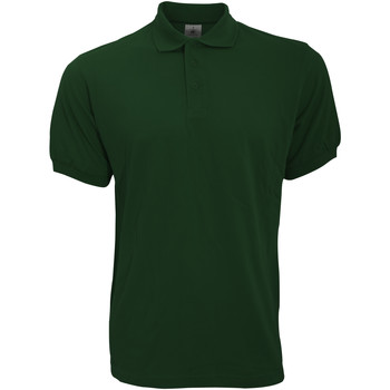 Textiel Heren Polo's korte mouwen B And C Safran Donker Groen