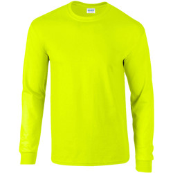 Textiel Heren T-shirts met lange mouwen Gildan Ultra Nieuwe Veiligheid Groen