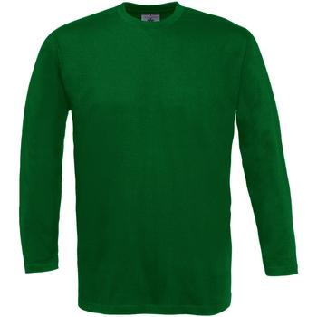 Textiel Heren T-shirts met lange mouwen B And C Exact 150 Fles groen