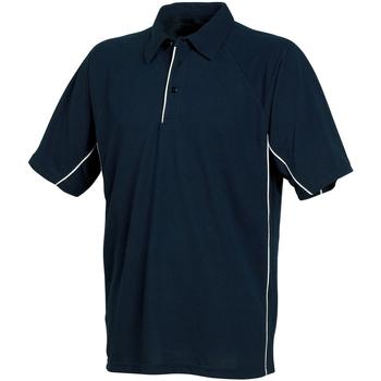 Textiel Heren Polo's korte mouwen Tombo Teamsport Pique Navy/Navy/White leidingen