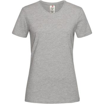 Textiel Dames T-shirts korte mouwen Stedman Organic Heide Grijs