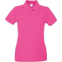 Textiel Dames Polo's korte mouwen Universal Textiles Casual Heet Roze