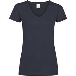 Textiel Dames T-shirts korte mouwen Universal Textiles Value Middernacht blauw