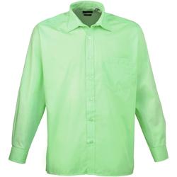 Textiel Heren Overhemden lange mouwen Premier Poplin Aqua