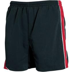 Textiel Heren Korte broeken / Bermuda's Tombo Teamsport Performance Zwart/rood/witte leidingen