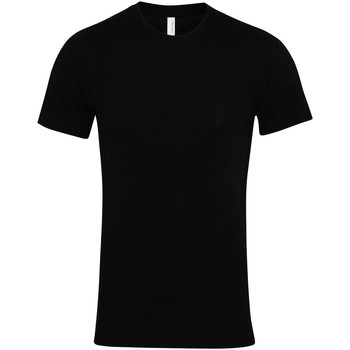 Textiel T-shirts korte mouwen Bella + Canvas Jersey Zwart