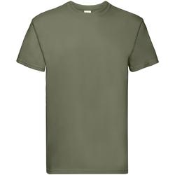 Textiel Heren T-shirts korte mouwen Fruit Of The Loom Premium Klassiek Olive