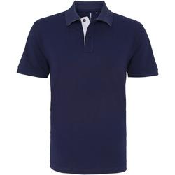 Textiel Heren Polo's korte mouwen Asquith & Fox AQ012 Marine / Wit