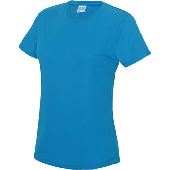 Textiel Dames T-shirts korte mouwen Just Cool JC005 Saffierblauw
