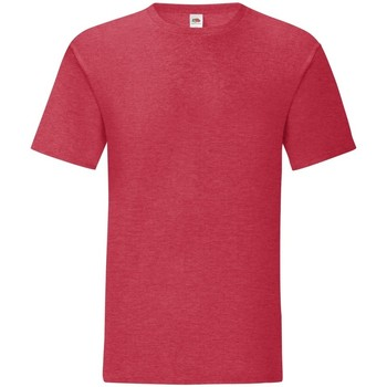Textiel Heren T-shirts korte mouwen Fruit Of The Loom Iconic Heather Rood