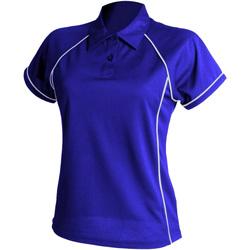 Textiel Dames Polo's korte mouwen Finden & Hales LV371 Koninklijk/Wit