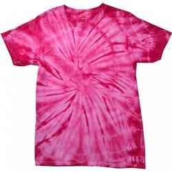 Textiel T-shirts korte mouwen Colortone Tonal Spin Roze