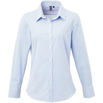 Textiel Dames Overhemden Premier Check Lichtblauw/Wit