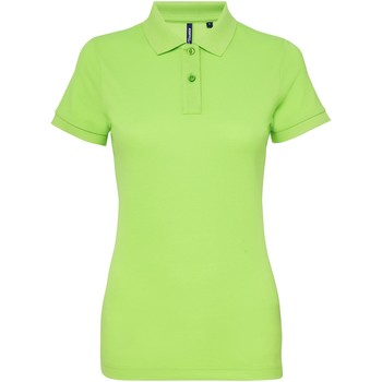 Textiel Dames Polo's korte mouwen Asquith & Fox Performance Neon Groen