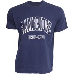 Textiel Heren T-shirts korte mouwen Cambridge University Cambridge Marine