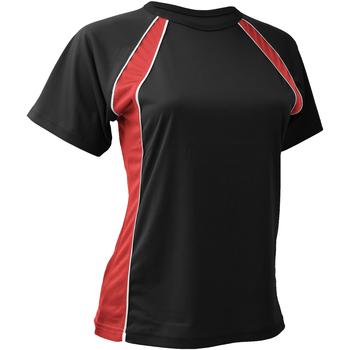 Textiel Dames T-shirts korte mouwen Finden & Hales Jersey Zwart/Rood/Wit