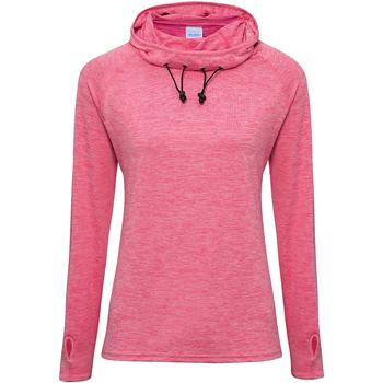 Textiel Dames Sweaters / Sweatshirts Awdis Cowl Neck Elektrisch Roze Melange