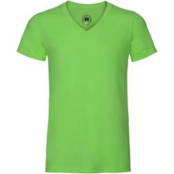 Textiel Heren T-shirts korte mouwen Russell J166M Groene mergel