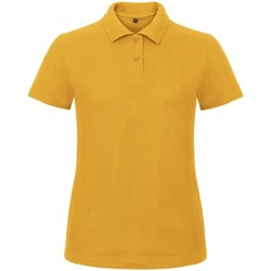 Textiel Dames Polo's korte mouwen B And C ID.001 Chilli-Goud