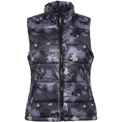 Textiel Dames Dons gevoerde jassen 2786 Padded Camo Grijs