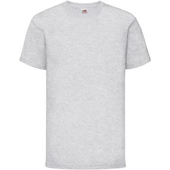 Textiel Kinderen T-shirts korte mouwen Fruit Of The Loom 61033 Heather Grijs