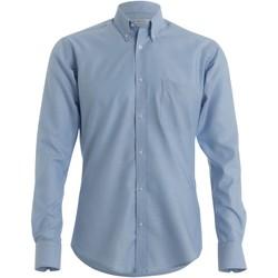 Textiel Heren Overhemden lange mouwen Kustom Kit KK184 Lichtblauw