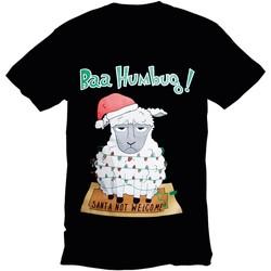 Textiel Heren T-shirts korte mouwen Christmas Shop Christmas Zwarte Bah Humbug